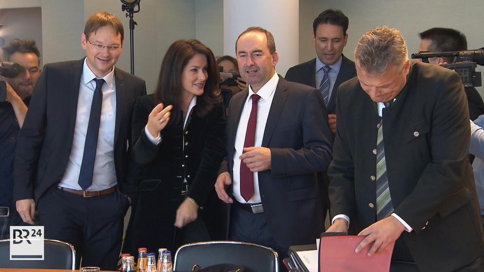 Söders neue Minister | Bild:Bayerischer Rundfunk 2018