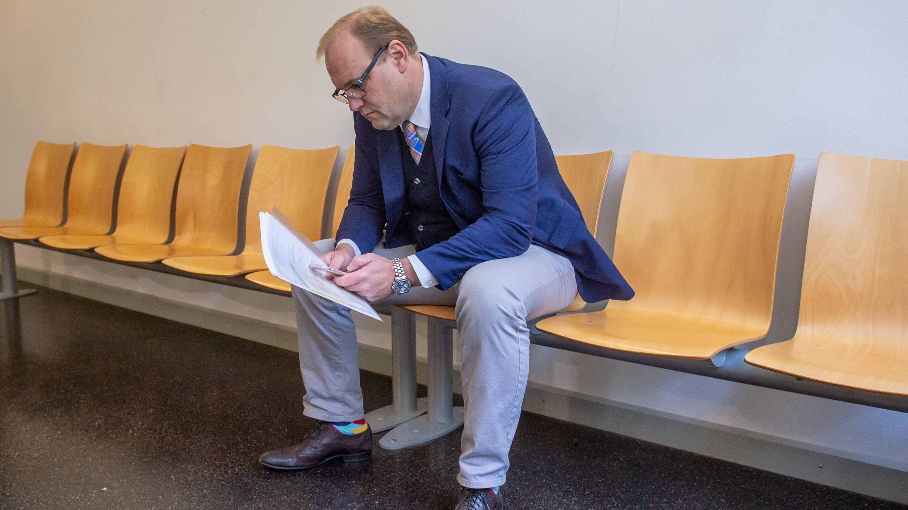 Christian Schlegl als Zeuge im Wolbergs-Prozess im Oktober 2018: Diese Aussage könnte ihn noch teuer zu stehen kommen.
