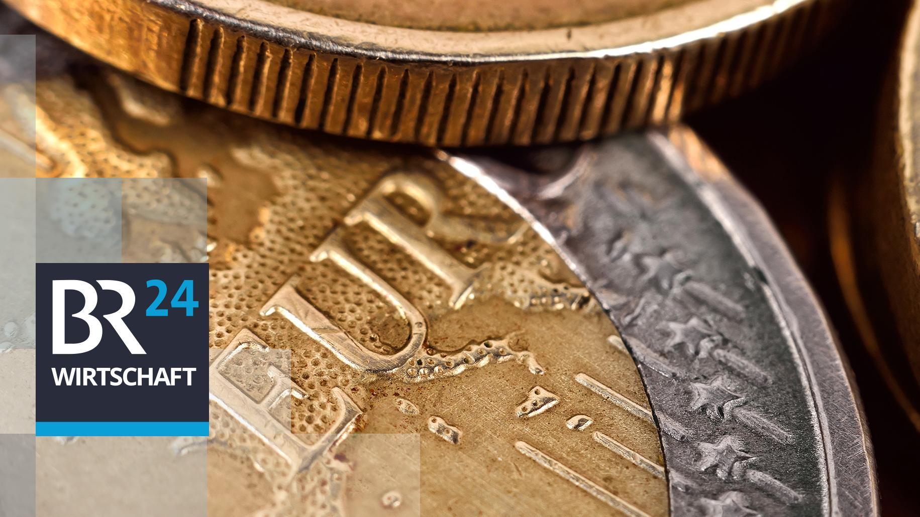 Euro-Schriftzug einer 1-Euromünze