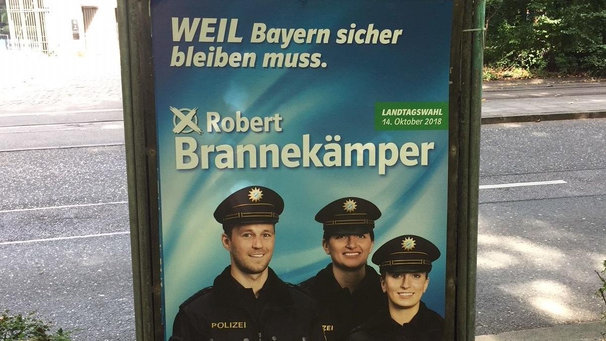 Wahlplakat des CSU-Kandidaten Robert Brannekämper