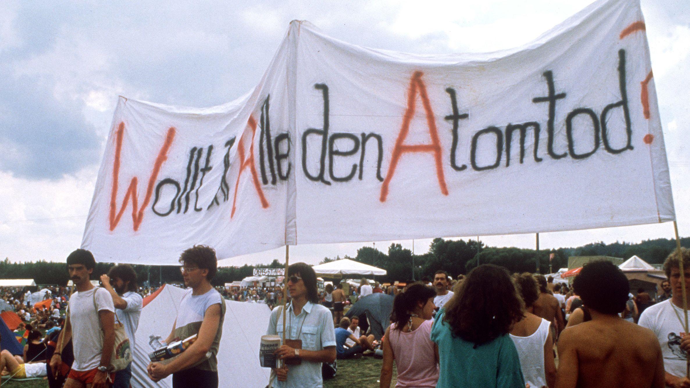 Gegner der Wiederaufbereitungsanlage Wackersdorf.
