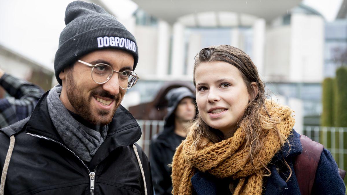 Igor Levit mit Luisa Neubauer beim Klimaprotest