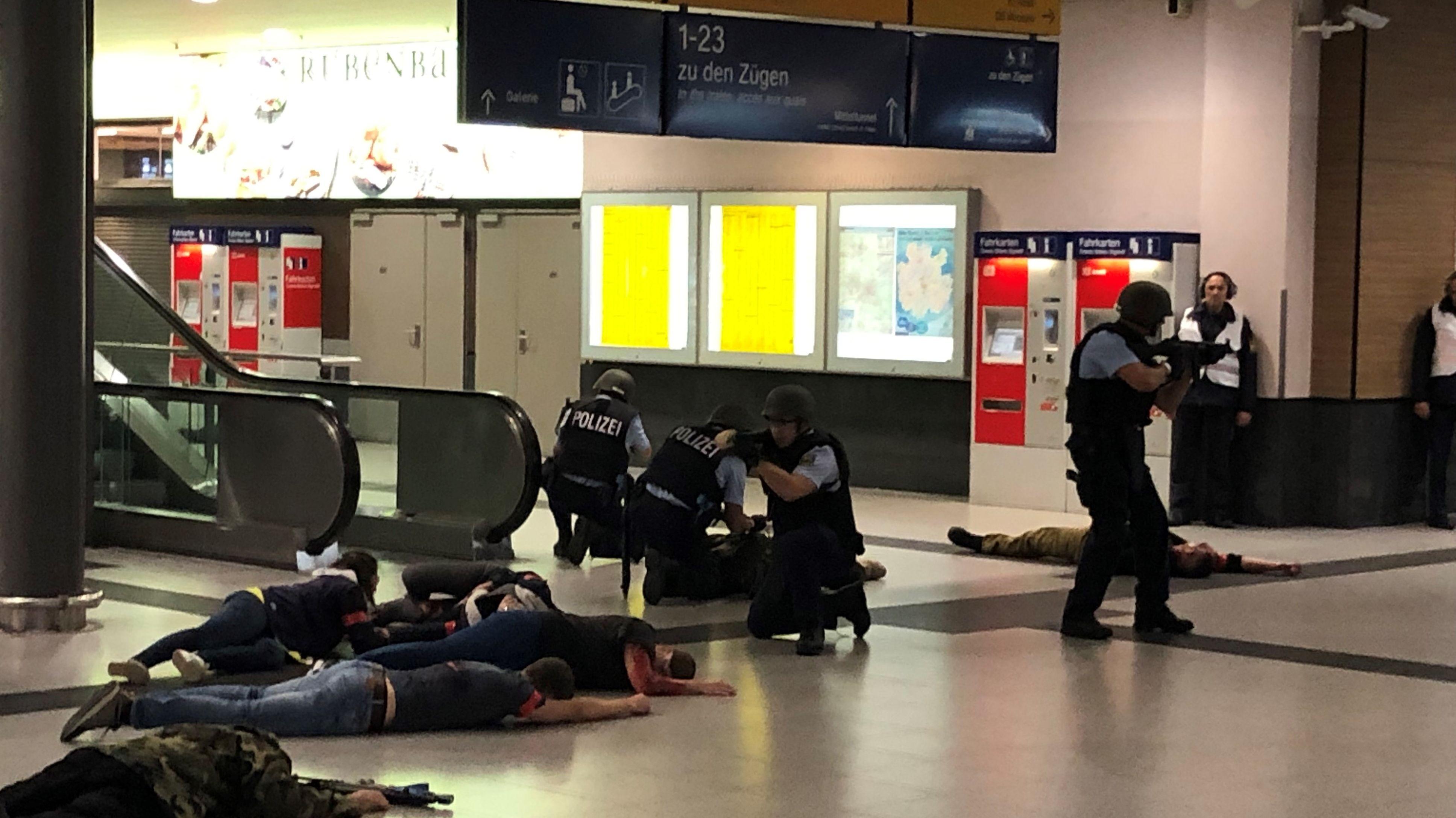 Terror-Übung am Hauptbahnhof in Nürnberg