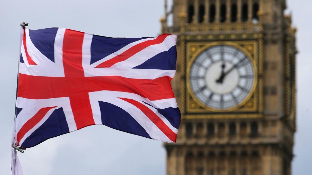 Big Ben und britische Fahne