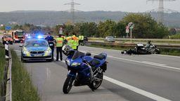 Die Unfallstelle auf der A93 bei Regenstauf   Bild:Alexander Auer
