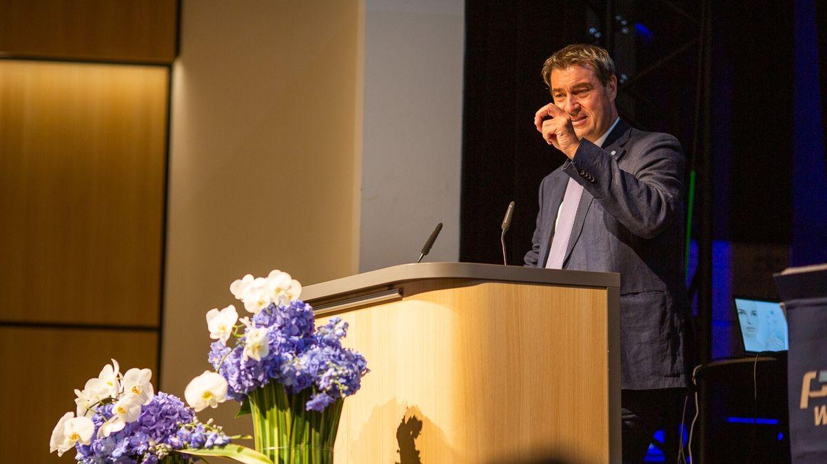 Markus Söder war Festredner beim Firmenjubiläum 100 Jahre Preh in Bad Neustadt