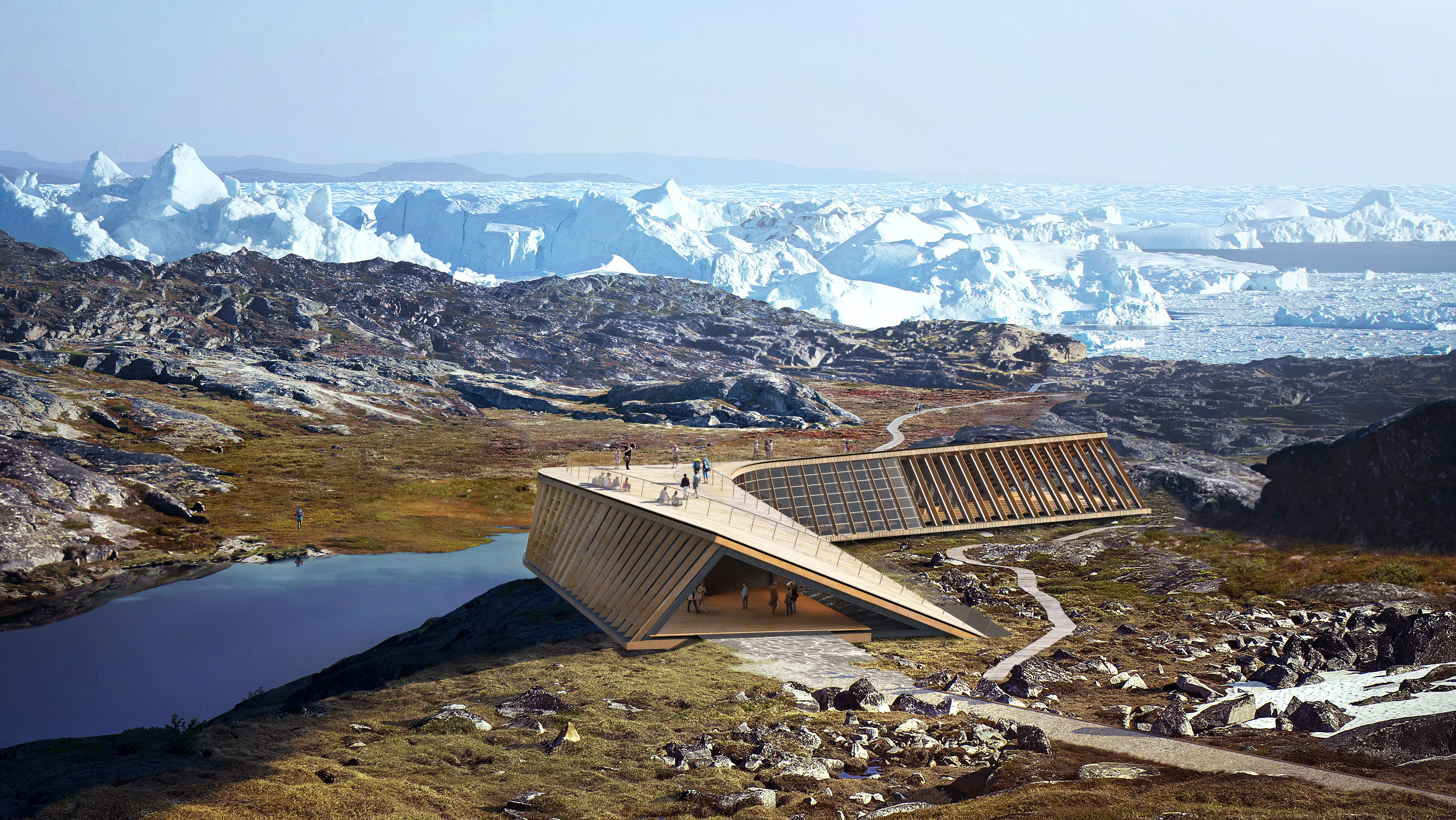 Icefjord Centre - Climate Research and Visitor Centre in Greenland.