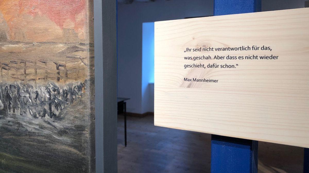 Exponat mit Zitat von Max Mannheimer