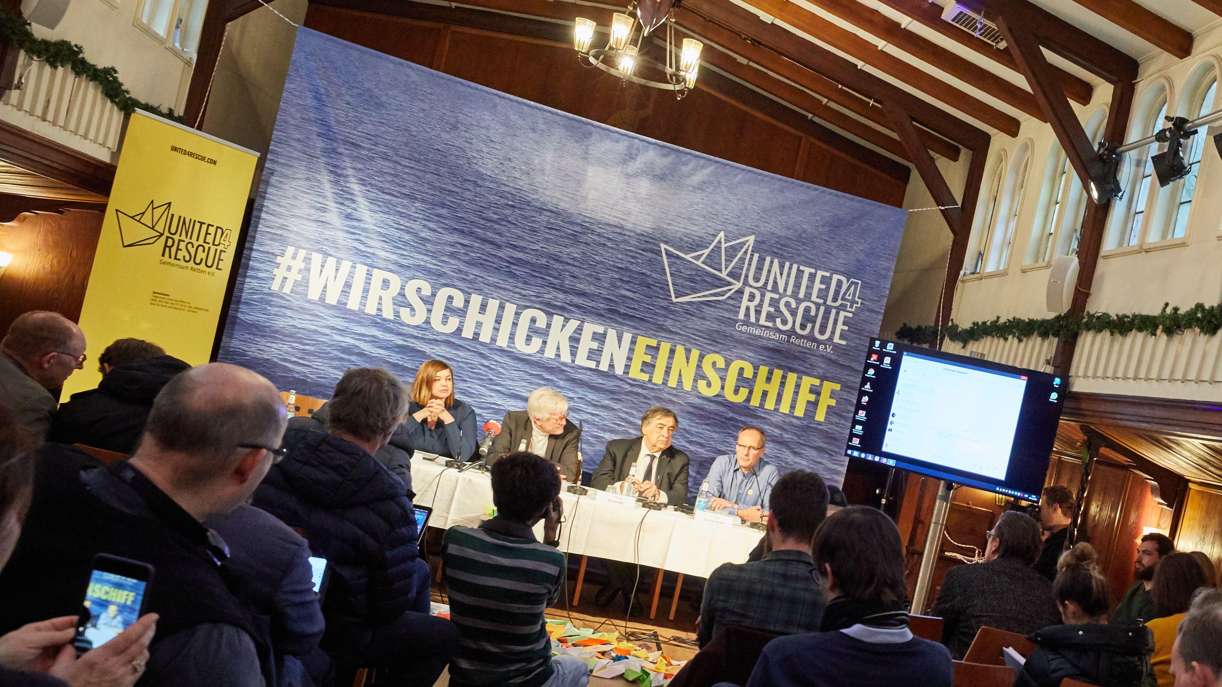 """03.12.2019, Hamburg: Pressekonferenz über das neue Bündnis """"United4Rescue - Gemeinsam Retten!"""""""