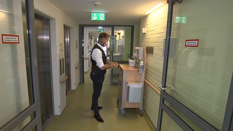 Markus Sendelbeck ist Hygienebeauftragter in einer Pflegeeinrichtung in Nürnberg