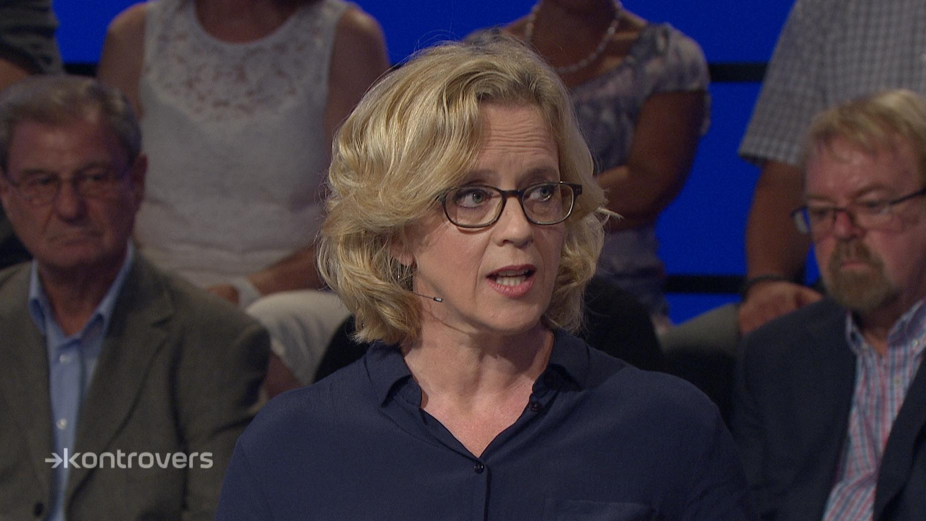 Natascha Kohnen (SPD) in der Kontrovers-Wahlarena am 12. September im BR Fernsehen