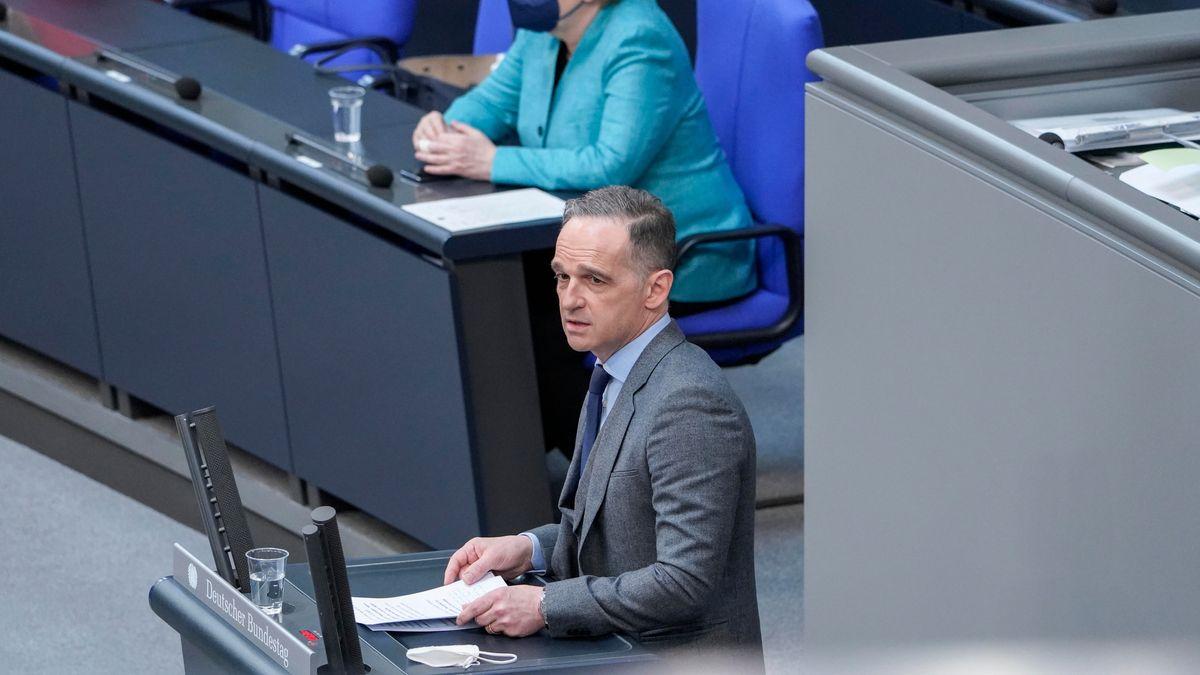 Bundesaußenminister Heiko Maas im Bundestag