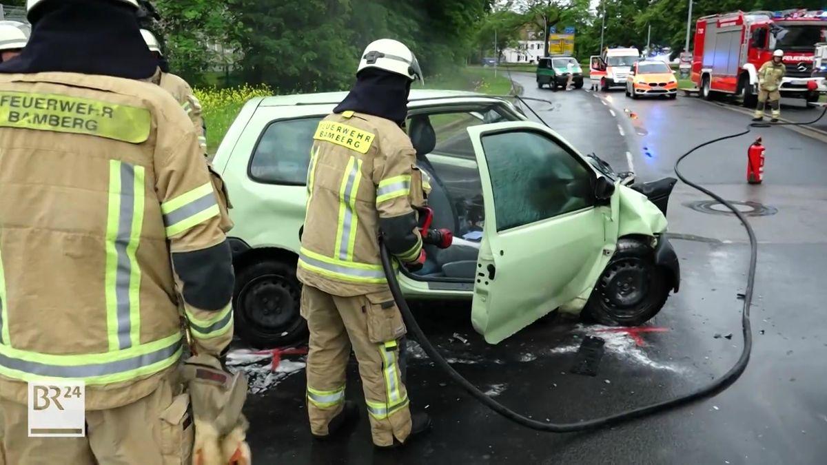 Schwerer Verkehrsunfall in Bamberg