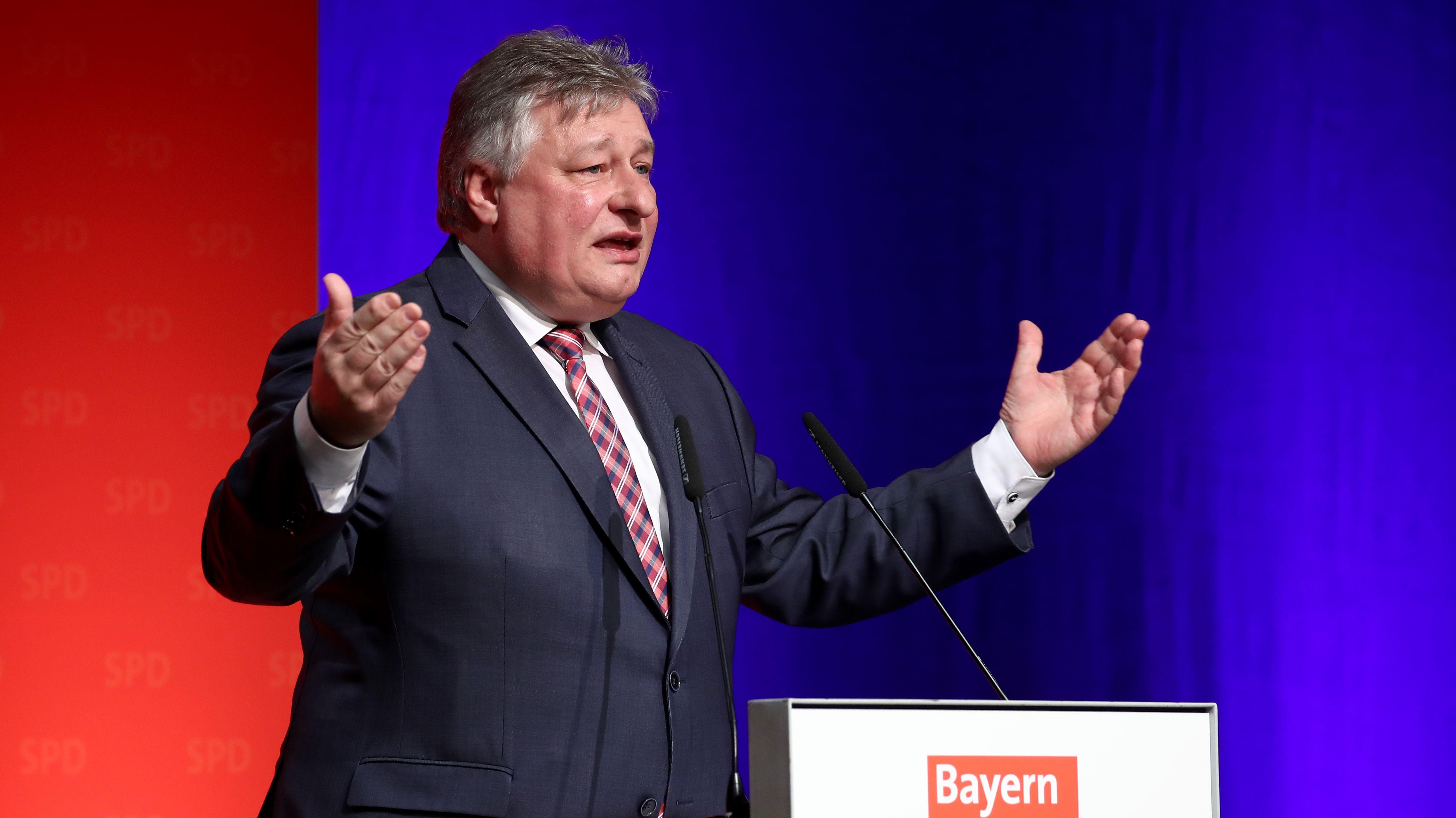 Der Chef der Landesgruppe Bayern in der SPD-Fraktion, Martin Burkert