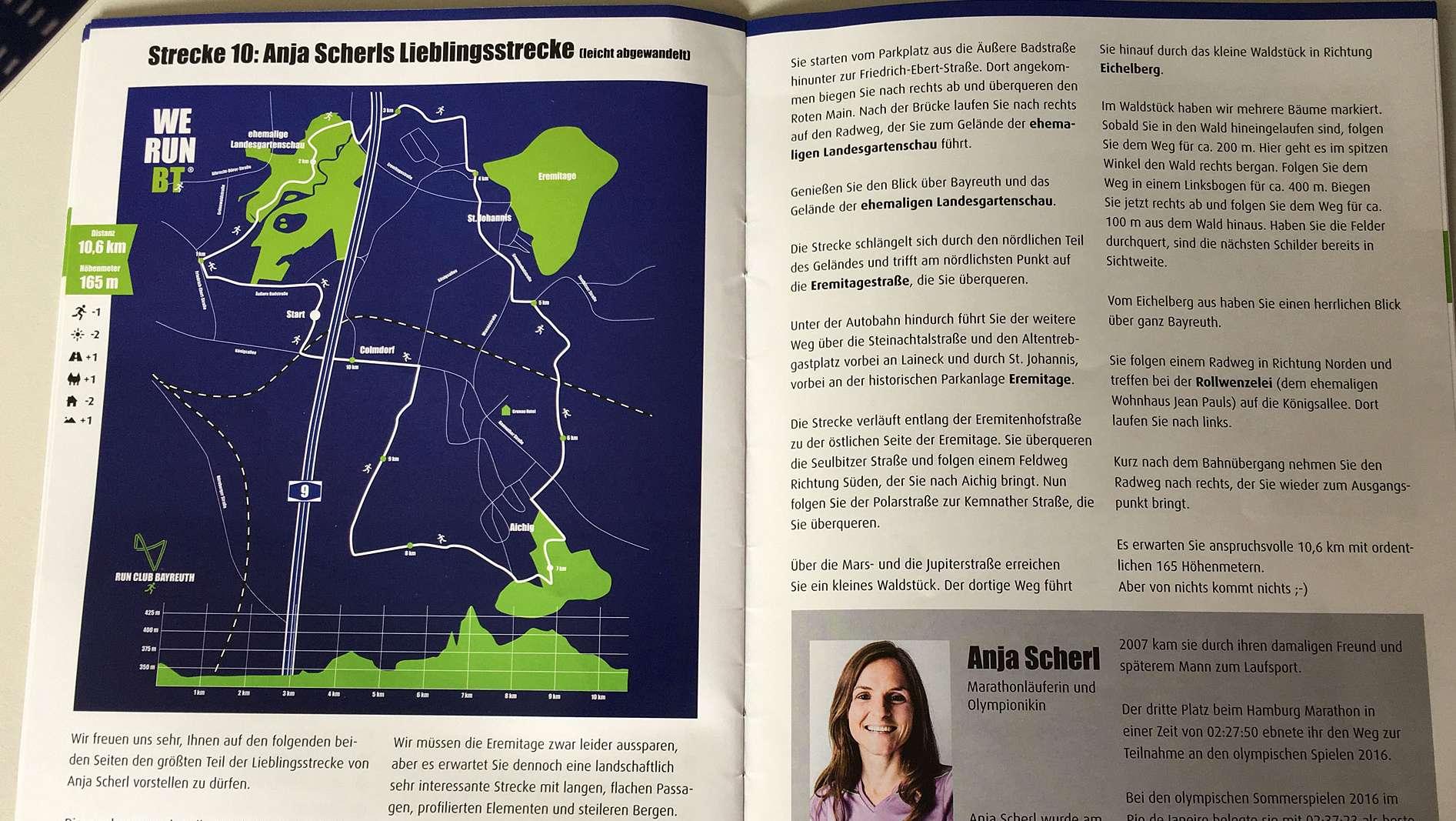 """Olympiateilnehmerin Anja Scherl verrät im """"Laufkompass"""" ihre Lieblingsstrecke"""