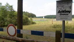 Eine Grenzbefestigung an der fränkisch-thüringischen Grenze.   Bild:BR