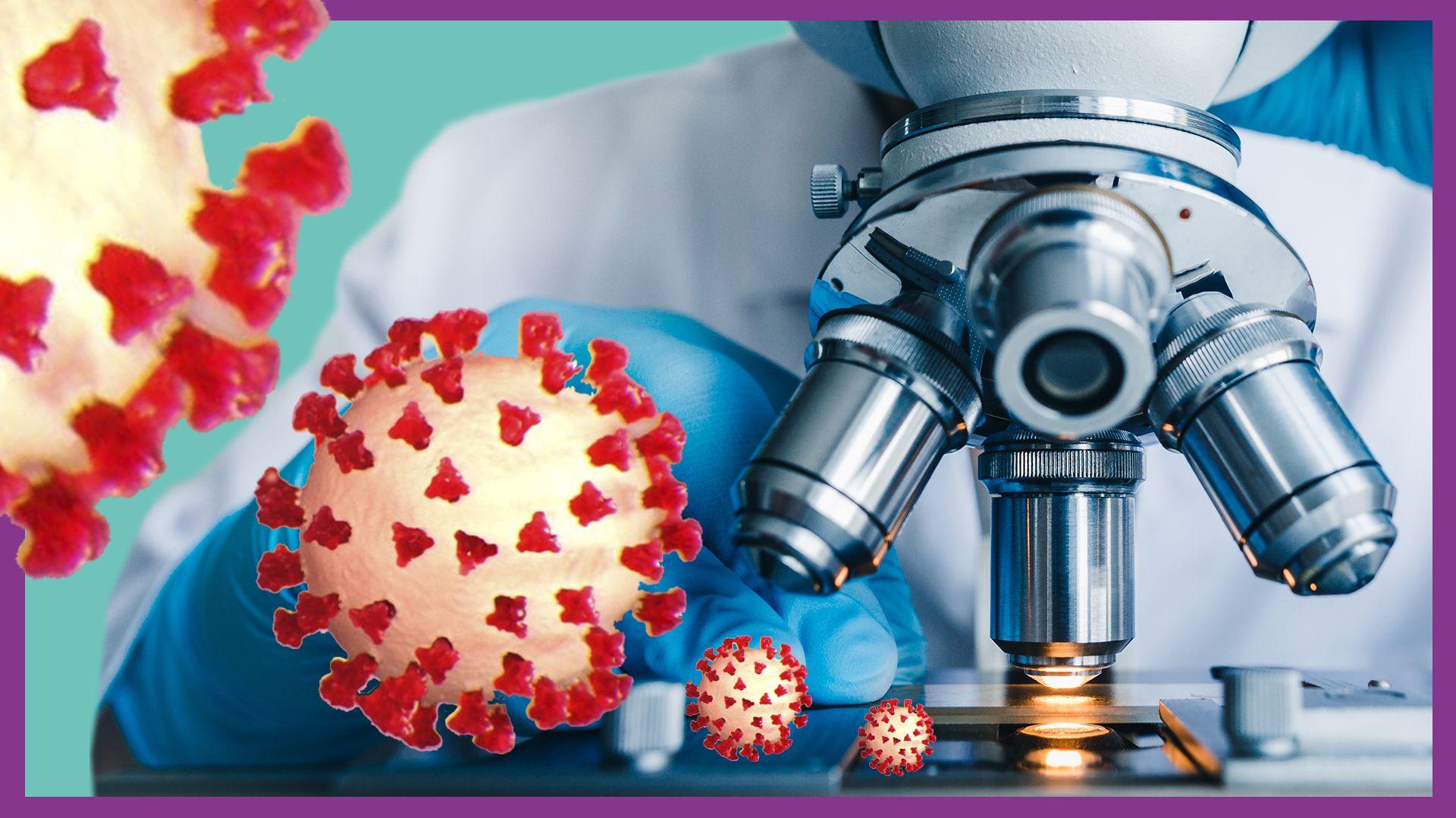 Ein Forscher untersucht mithilfe eine Mikroskops das neuartige Coronavirus.