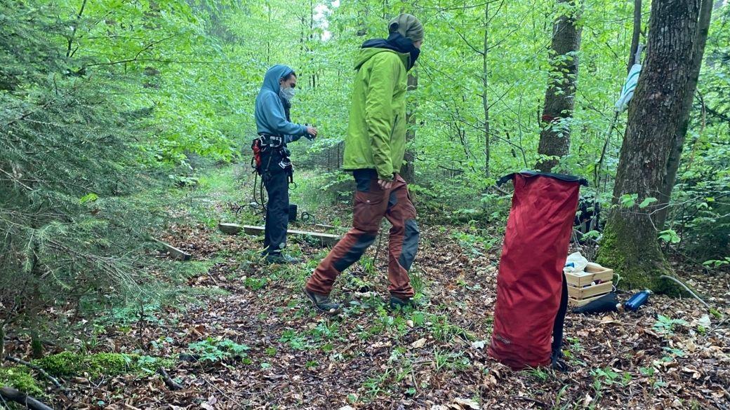 Klimaaktivisten bei der ersten Besetzung des Forst Kasten (Archivbild)