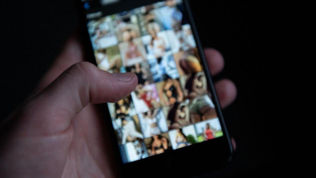 Unscharfe Handy-Bilder