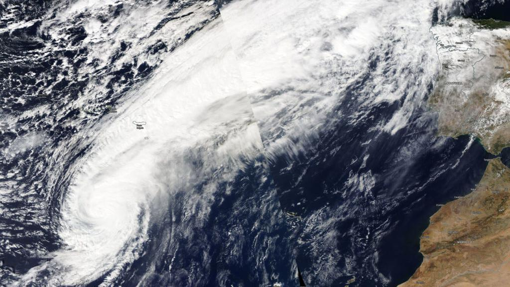 "Sturm ""Leslie"" in Portugal"