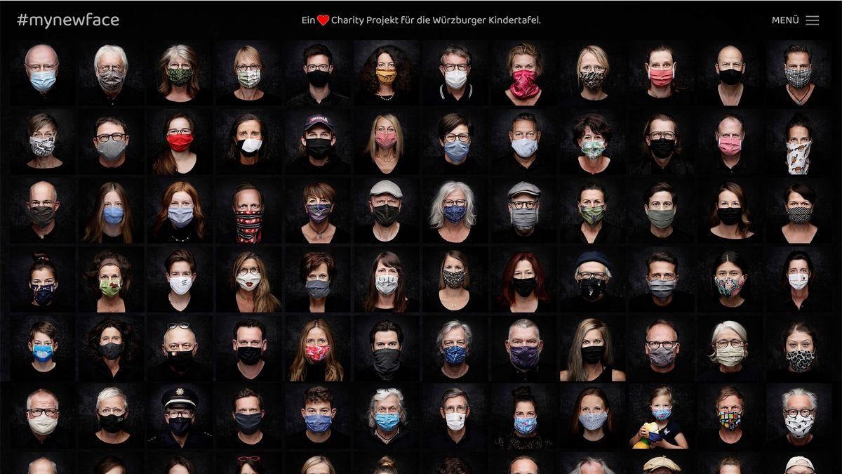 Würzburger Benefizaktion #mynewface: Portraits von Menschen mit Mundnasenmaske