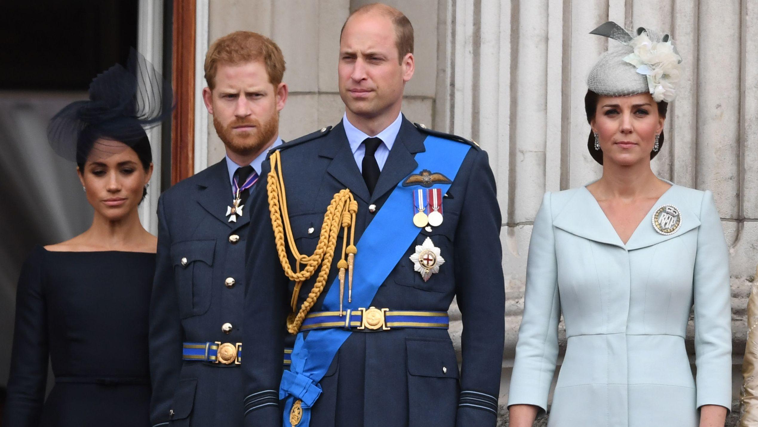 Archivbild Herzogin Meghan, Prinz Harry, Prinz William und Herzogin Kate - Die Ehepaare gehen bei ihren wohltätigen Aktivitäten getrennte Wege