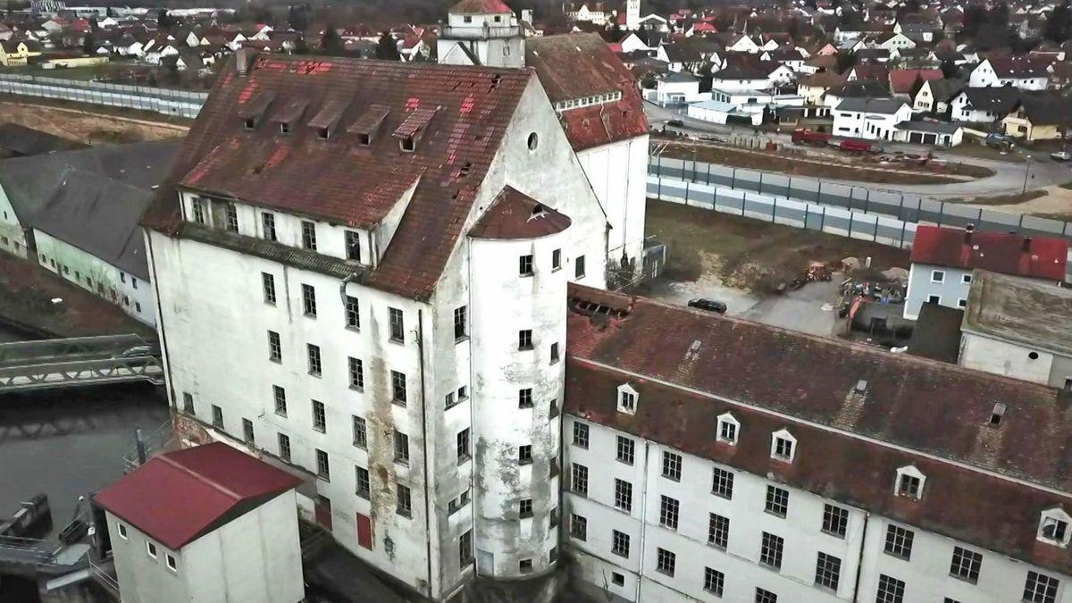 Das verfallende Industriedenkmal Stockaumühle in Reichertshofen.
