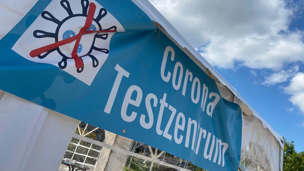 Corona-Testzentrum in Erding.