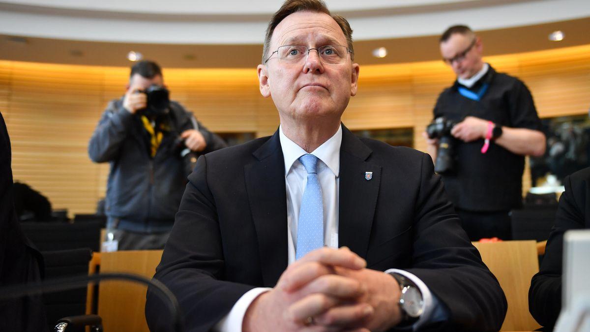 Bodo Ramelow (die Linke) im Thüringer Landtag.