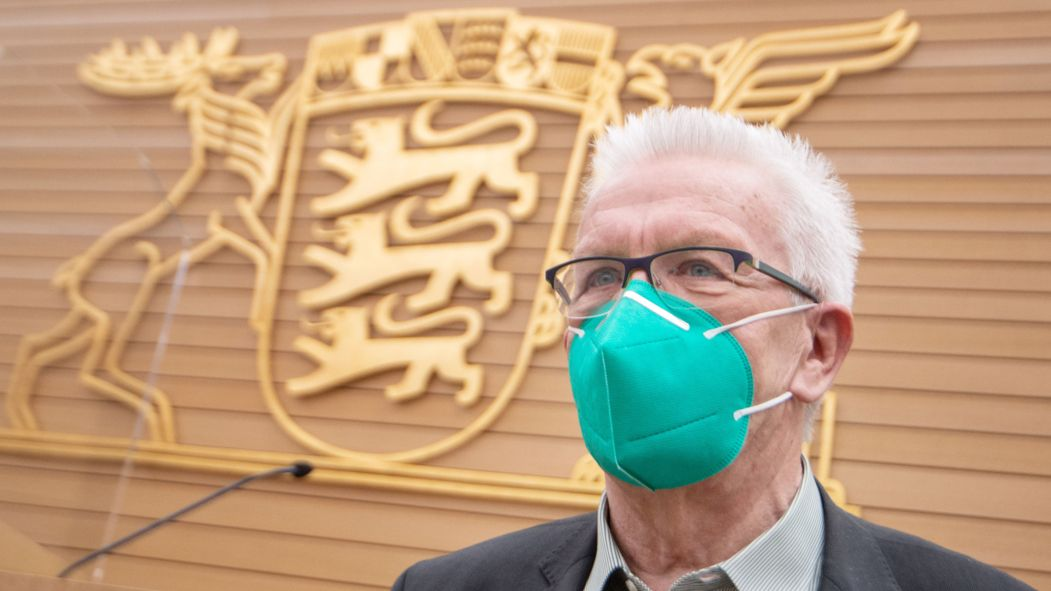 Kretschmann mit grüner Maske