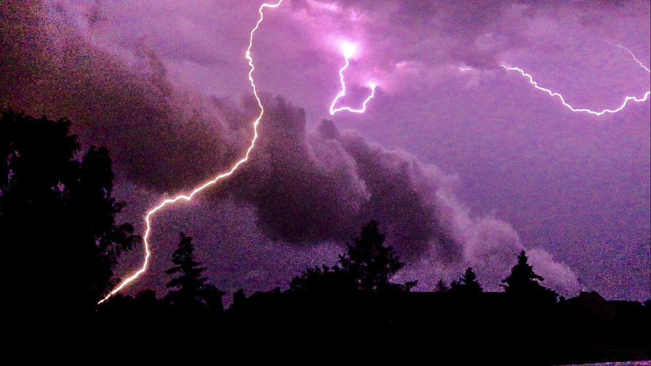 Starke Unwetter zogen in der Nacht über Brandenburg.