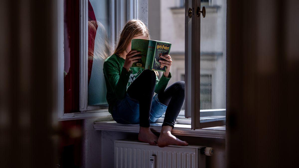 Lesendes Mädchen (Symbolbild)