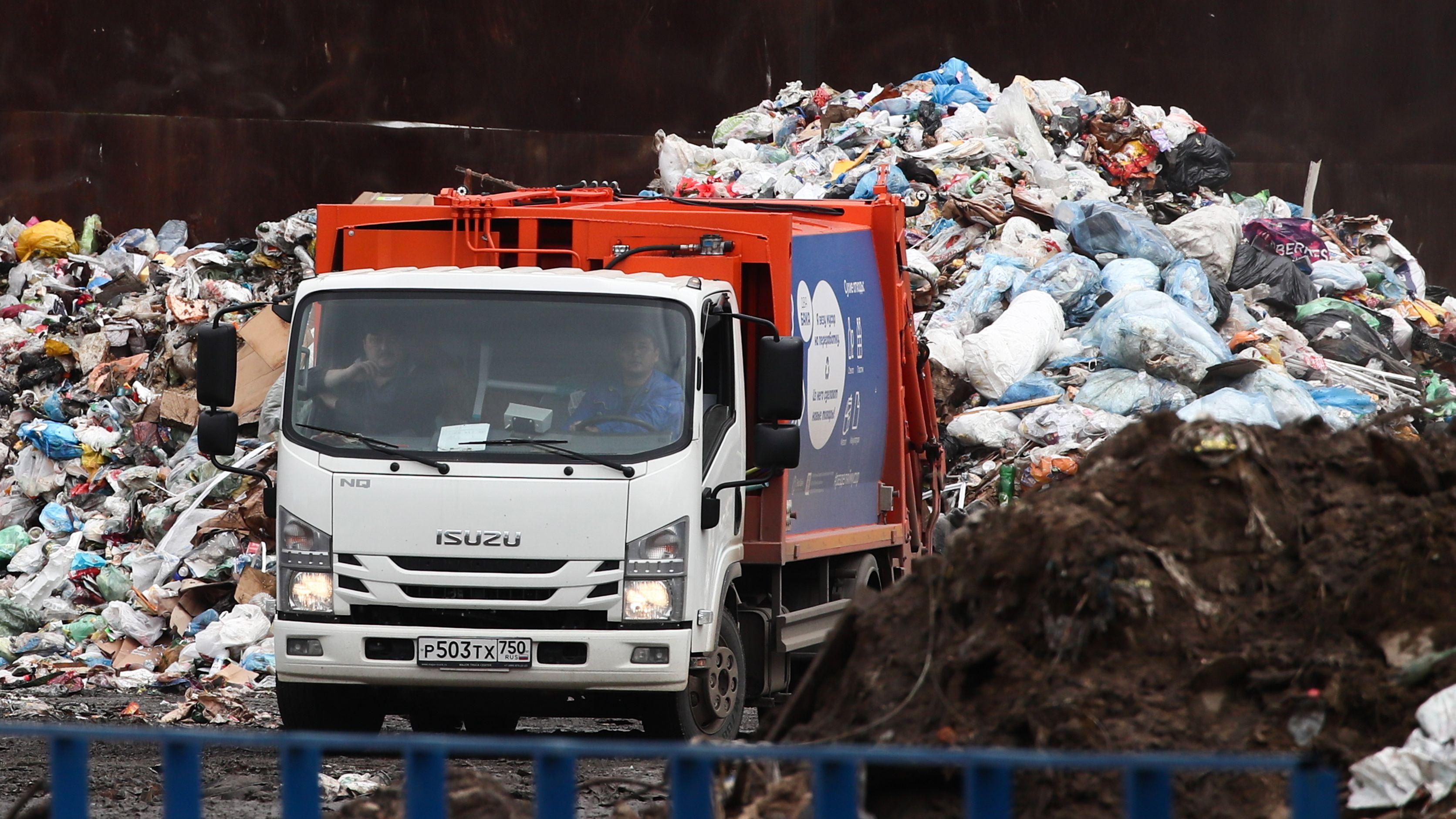 Moskau und sein Müll: Müll-Sortierungsanlage in der Nähe des Moskauer Flughafens