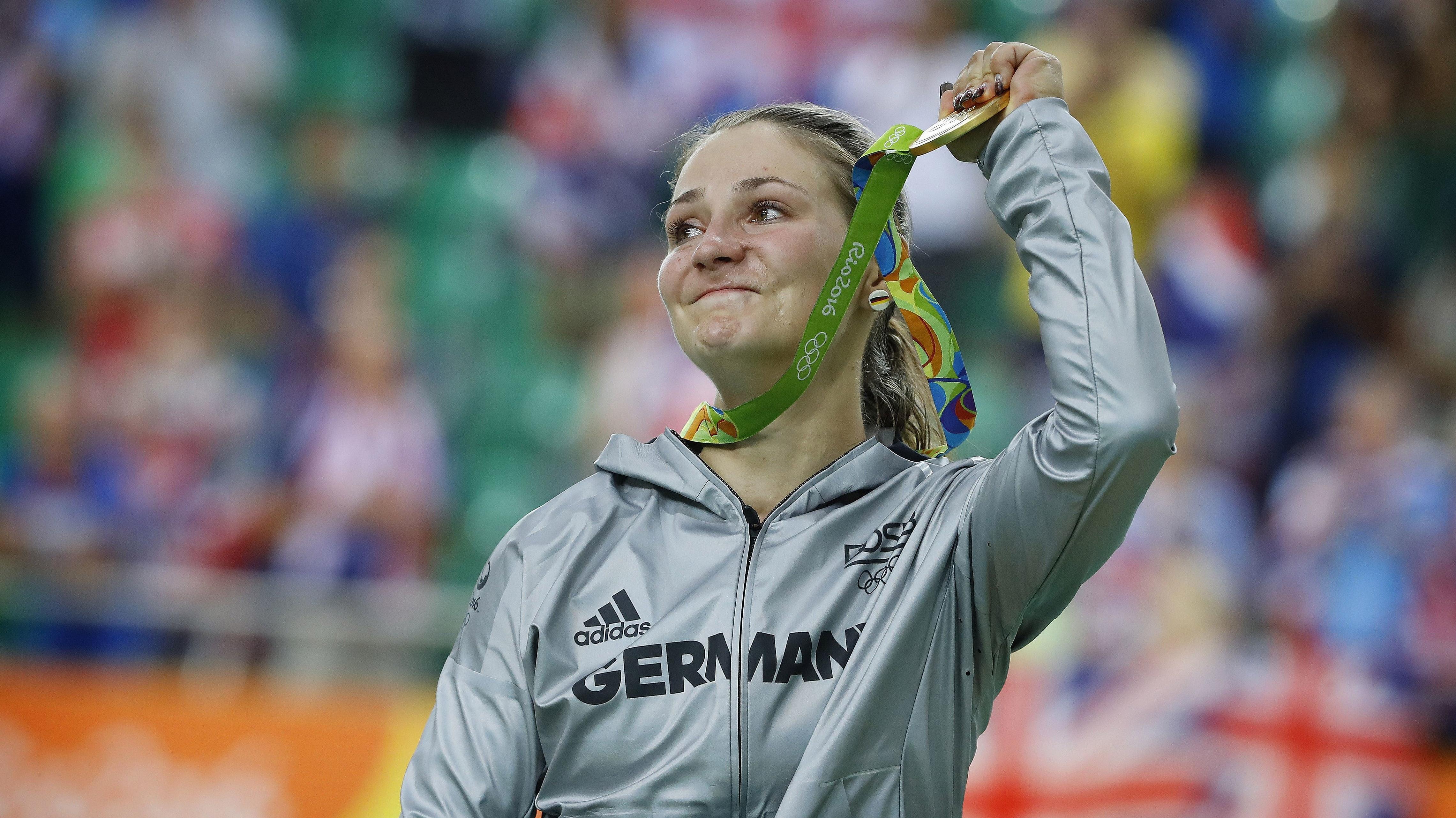Kristina Vogel mit der olympischen Goldmedaille 2016