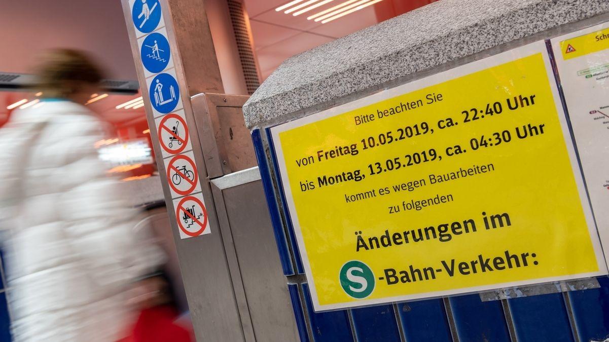 Stammstrecke München am Wochenende gesperrt