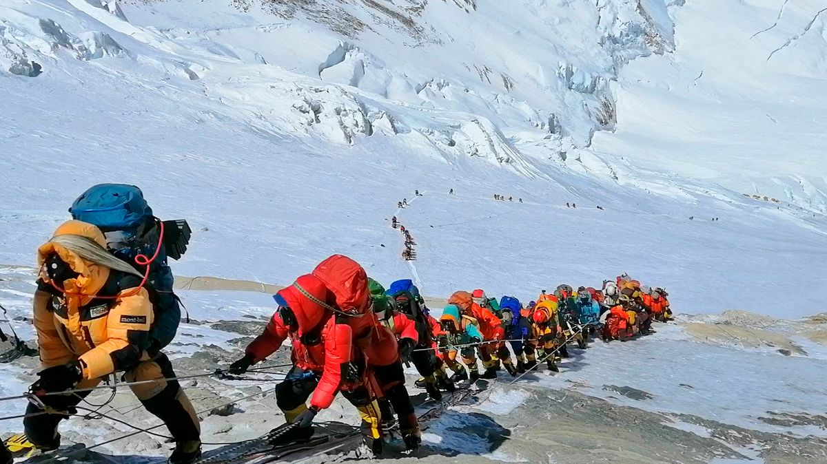 Bergsteiger am Mount Everest