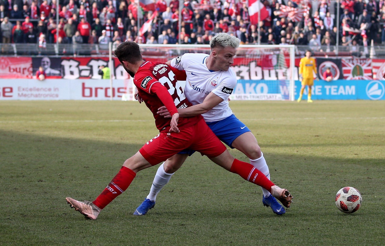 Spielszene Würzburg - Rostock aus der Saison 2018/19