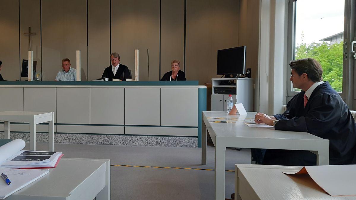 Der Gerichtssaal im Amtsgericht Schwabach