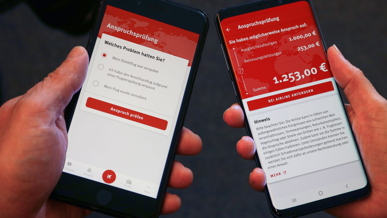 Kostenlose Flugärger-App der Verbraucherzentrale NRW