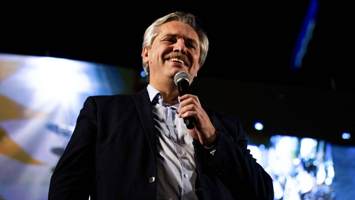 Präsidentschaftskandidat Alberto Fernandez.