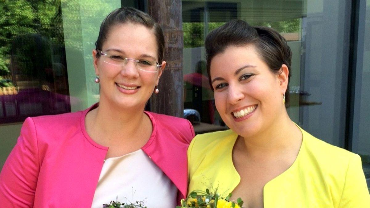 Die Pfarrerinnen Yvonne und Christiane Renner.