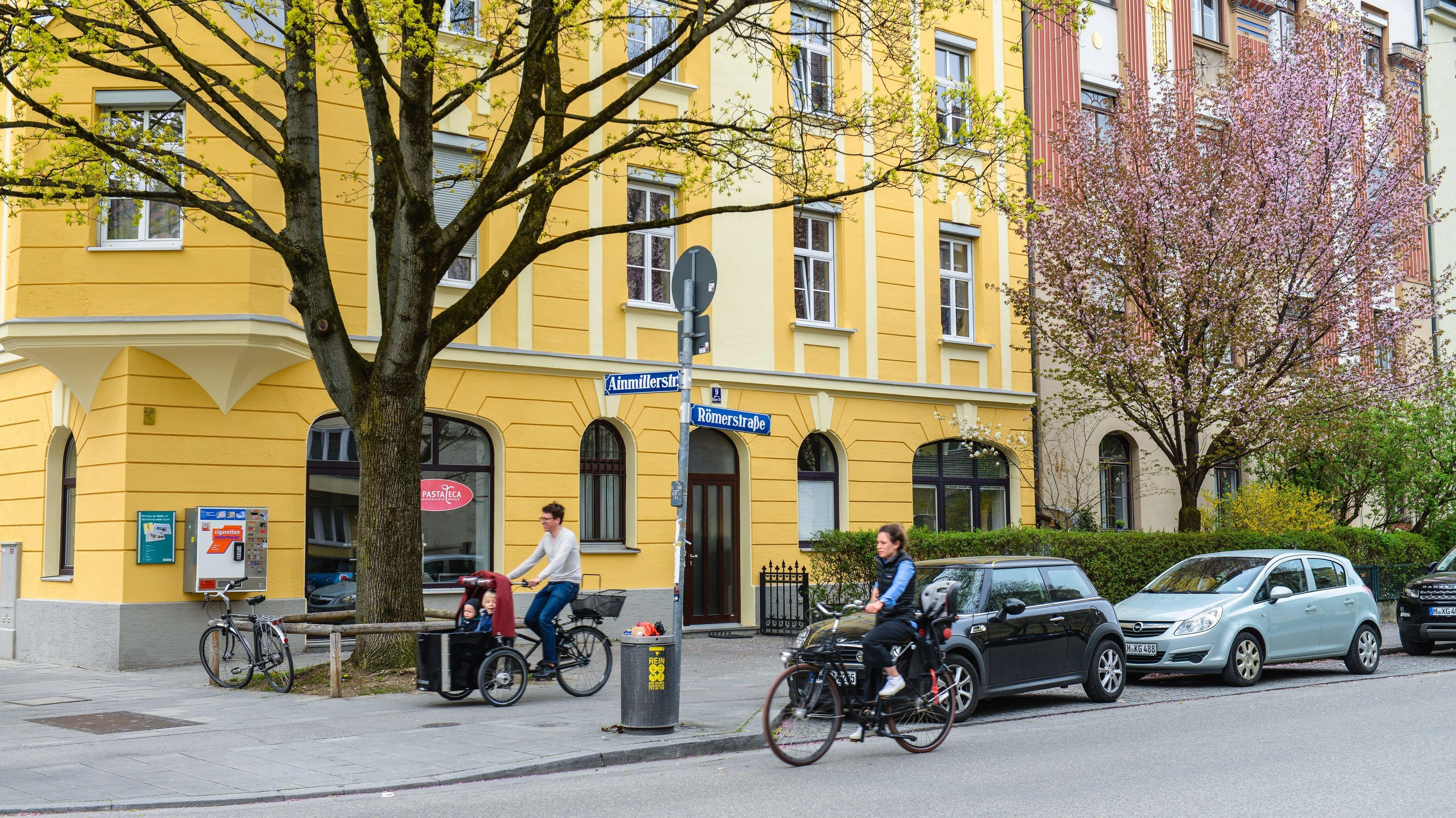 Häuserfassaden in München-Schwabing