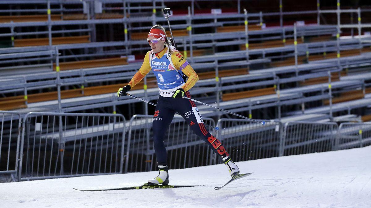 Vor leeren Rängen: Denise Herrmann läuft in Nové Město zum Sieg