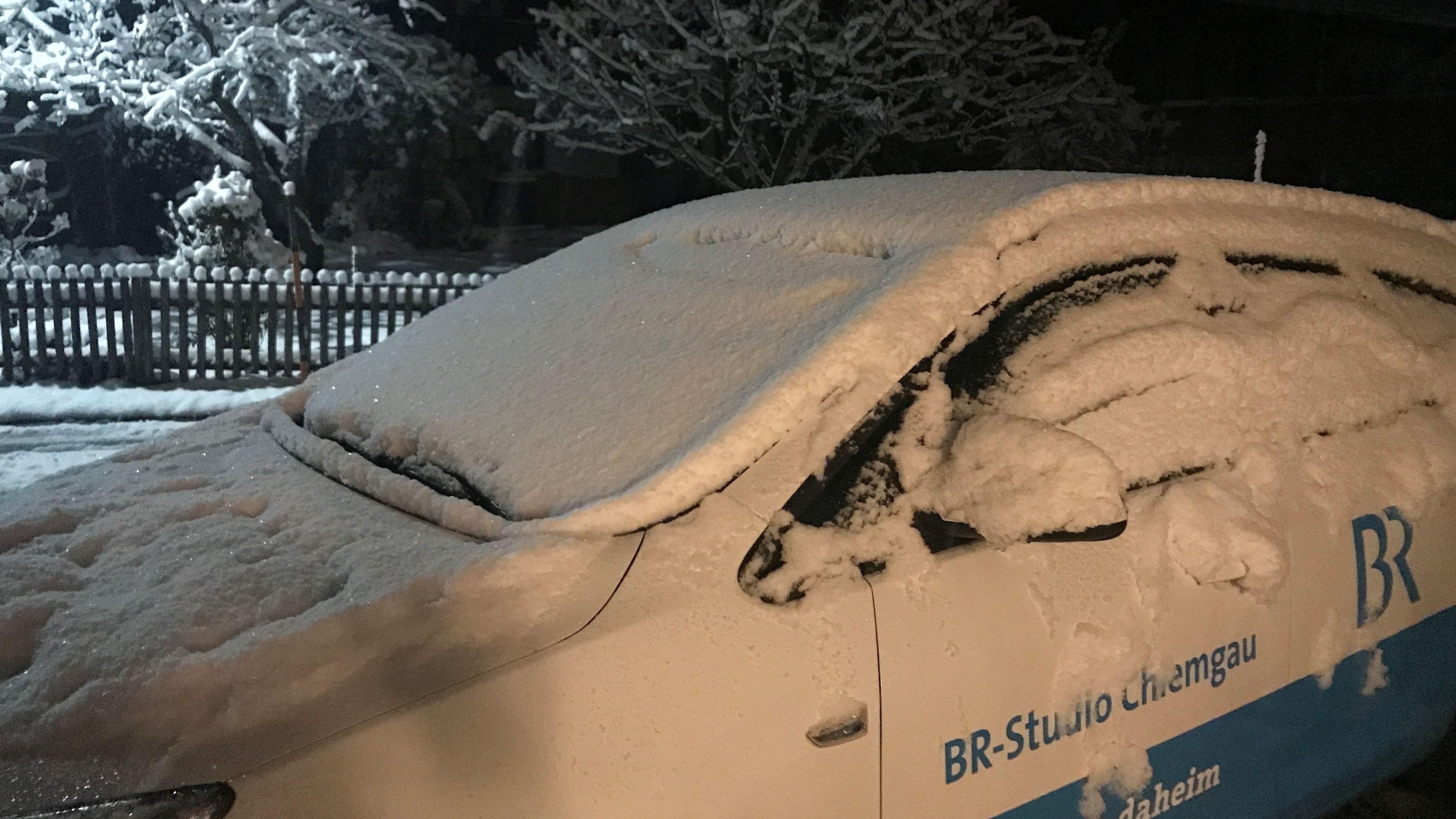 Das Auto unseres Chiemgau-Korrespondenten am Morgen