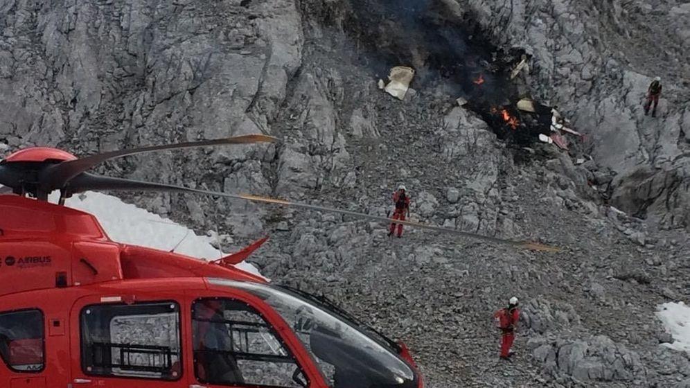 Am Donnerstag ist ein Kleinflugzeug bei Leutasch in Tirol im Wettersteingebirge abgestürzt. | Bild:Dominik Bartl