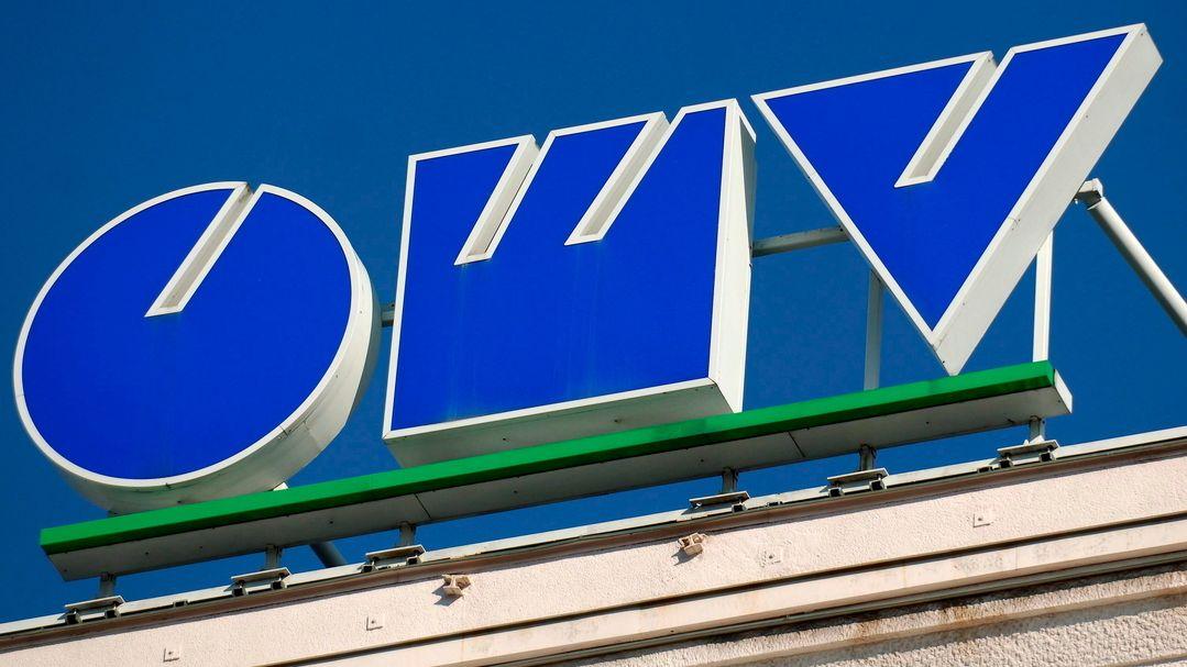 Das Logo des österreichischen Energiekonzerns OMV.