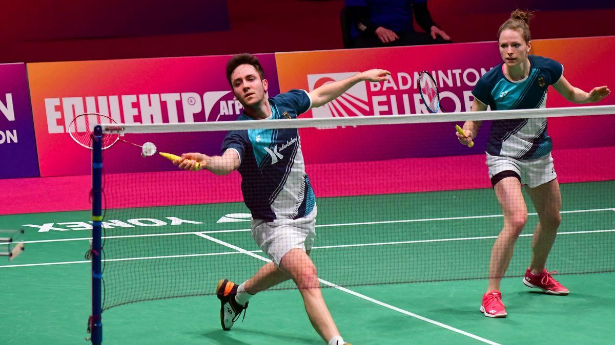 Mark Lamsfuß und Isabel Herttrich bei der Badminton-EM in der Ukraine