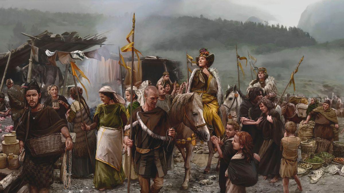 Eine Frau von hohem Status und niedrigrangigere Menschen lebten zur Bronzezeit unter einem Dach.