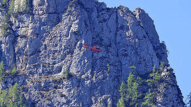 Rettungseinsatz der Bayerischen Bergwacht am Vorderen Rotofen in den Berchtesgadener Bergen