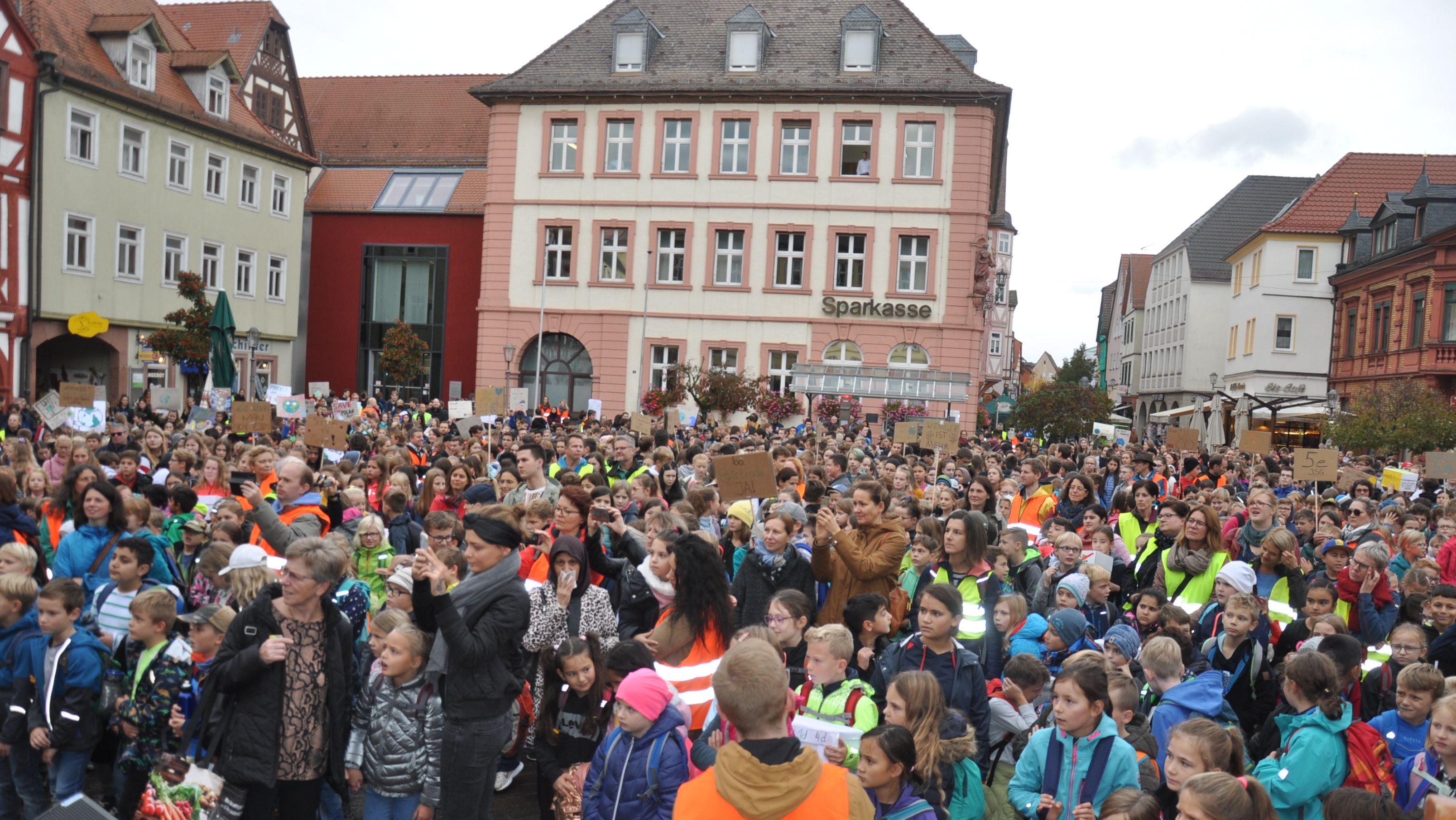 Abschlussveranstaltung der Karlstadter Schülerinnen und Schüler zur Klimawoche